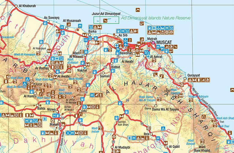 Karte Oman.Oman Intewo World Habitat Society Gmbh